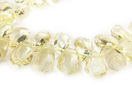Lemon Quartz Facetted Tumbled Drops