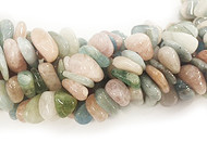 Mixed Beryl Tumbled Chip Beads 7x12mm - By The Strand