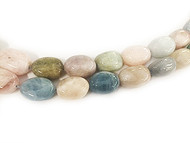 Mixed Beryl Large Tumbled Nugget Beads 18-20x28-30mm  - by the strand