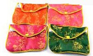 Chinese Brocade Pouch 3x2.5 - 12 pouches