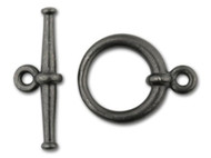 TierraCast Black Large Tapered Toggle Clasp Set each