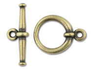 TierraCast Antique Brass Large Tapered Toggle Clasp Set each