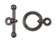 "TierraCast 1/2"" Black Anna's Toggle Clasp Set each"