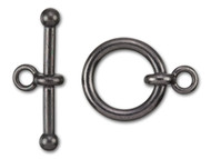 "TierraCast 3/4"" Black Anna's Toggle Clasp Set each"