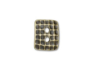 TierraCast Antique Brass Hammertone Rectangle Button each