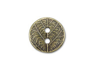 TierraCast Antique Brass Round Leaf Button each