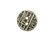 TierraCast Antique Brass Round Coin Button each