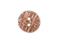 TierraCast Antique Copper Round Coin Button each