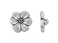 TierraCast Antique Silver Apple Blossom Button each