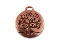 TierraCast Antique Copper Tree Of Life Pendant each