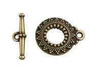 TierraCast Antique Brass Bali Toggle Clasp Set each