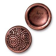 TierraCast Antique Copper Spirals Snap Cap Line 20 each