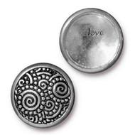 TierraCast Antique Pewter Spirals Snap Cap Line 20 each
