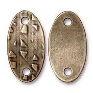 TierraCast Antique Brass Rock & Roll Oval Link each