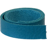 """TierraCast Leather 1/2""""x10"""" Strap Turquoise each"""