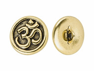 TierraCast Antique Gold Om Button each