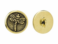 TierraCast Antique Gold Dragonfly Button each
