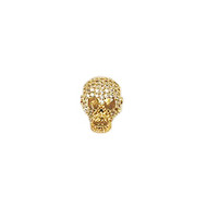CZ Bead Laughing Skull 18mm with  Gold Plated Copper - each