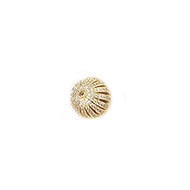 Round Bead Gold-Plated Copper with Cubic Zirconias  12mm
