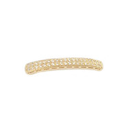 Bar Connector Gold-Plated Copper with Cubic Zirconias 48x4.5mm