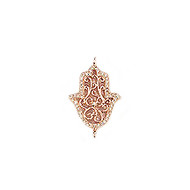Connector Hamsa 20mm with CZ Rose Plated Copper - each