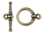 TierraCast Antique Brass Heirloom Toggle Clasp Set each