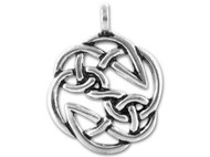 TierraCast Antique Silver Open Knot Celtic Pendant each