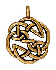 TierraCast Antique Gold Open Knot Celtic Pendant each