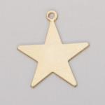Metal Blank - Star Brass  25mm 24ga (w/ring) (32000)
