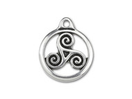 TierraCast Antique Silver Small Triskele Charm each
