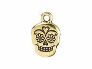 TierraCast Antique Gold Sugar Skull Charm each