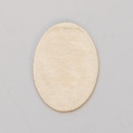 Metal Blank Oval  Brass 25x18mm 24ga
