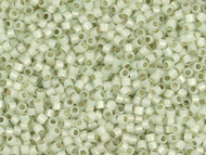 Miyuki Delica Seed Bead size 11/0 Pale Green Lime Opal Silver Lined DB 1453