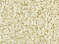 Miyuki Delica Seed Bead size 11/0 Pale Cream Opal Silver Lined DB 1451
