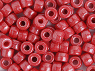 Crow Bead - Glass Opaque Luster Red 9mm