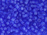 Crow Bead - Glass Transparent Medium Blue 6mm