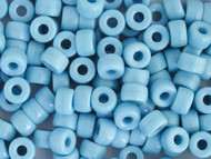 Crow Bead - Glass Opaque Blue Turquoise 9mm