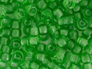 Crow Bead -  Glass Transparent Medium Dark Green 9mm