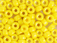Crow Bead -  Glass Opaque Yellow 9mm