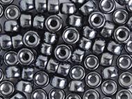 Crow Bead - Glass Lustre Black Hematite 9mm