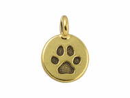 TierraCast Antique Gold Paw Charm each