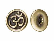 TierraCast Antique Brass Om Button each