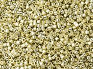 Miyuki Delica Seed Bead size 11/0 Silver Galvanized Duracoat DB 1831