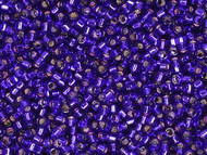 Miyuki Delica Seed Bead size 10/0 Dark Violet Silver Lined-Dyed DB 0610