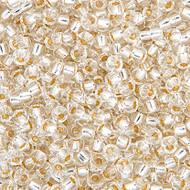 Miyuki Round Seed Bead Size 8/0 Crystal Silver Lined SB 0001