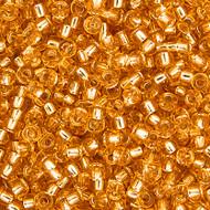 Miyuki Round Seed Bead Size 8/0 Gold Silver Lined SB 0003