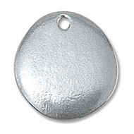 "ImpressArt Stamping Blank Pewter River Stone with Hole 3/4"" - 2 pack"
