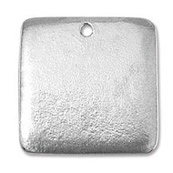 "ImpressArt Stamping Blank Pewter Square with Hole 15/16"" - 2 pack"