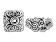 TierraCast Antique Silver Mirage Bead Cap each