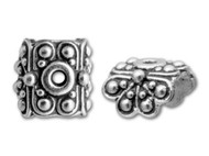 TierraCast Antique Silver Raja Bead Cap each